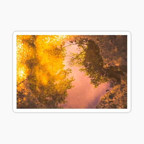 Reflection, colorful graphic composition Sticker