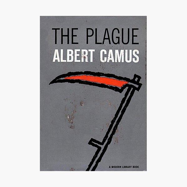 Plague by Camus (vintage book cover)  Photographic Print
