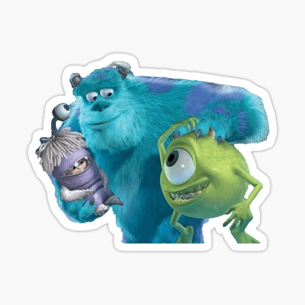 Monsters Inc. Who is Bigger, Boo Or Mike? Sticker