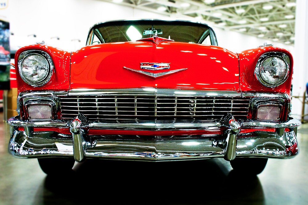 Classic Red Chevrolet Auto Show by Eric Ziegler