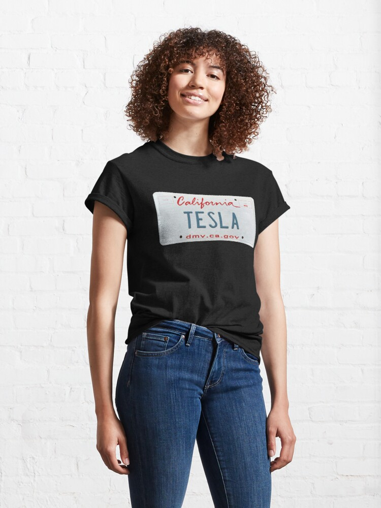 """Tesla license plate California"" T-shirt by GPCDesign ..."