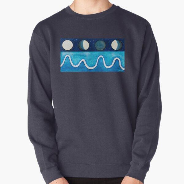 Moon tide ebb flow Pullover Sweatshirt