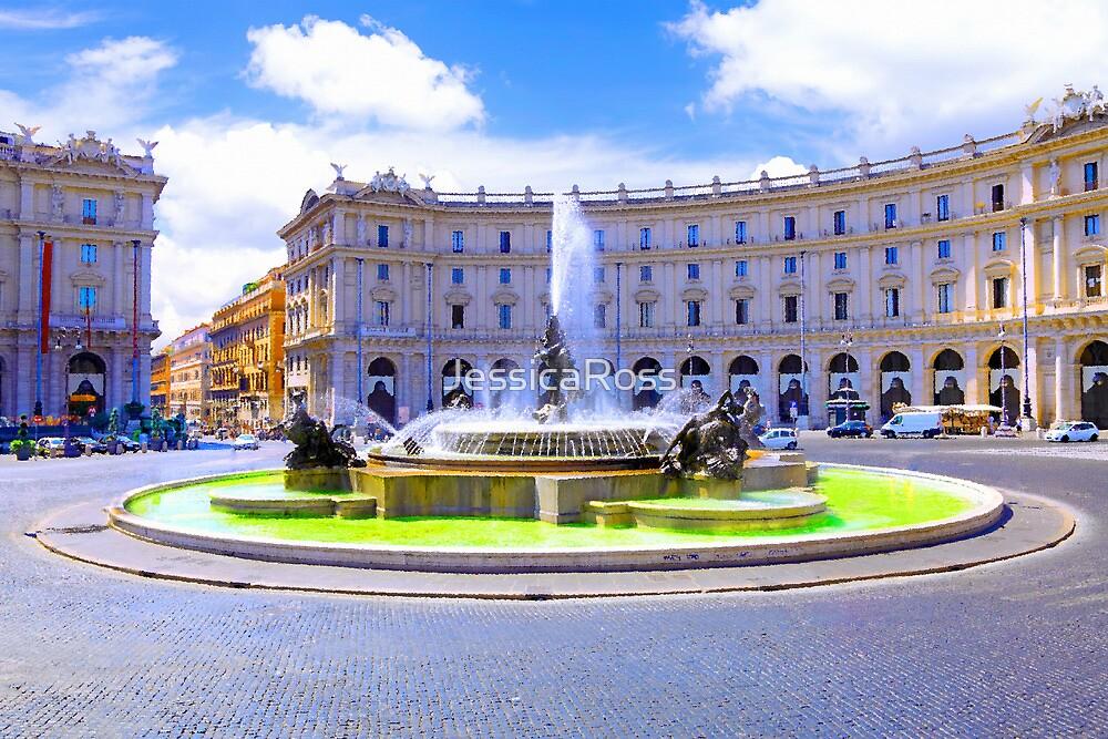 Rome, Italy - Fountain roundabout outside Piazza della Republica by JessicaRoss