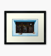 Window Into Greece 3 Framed Print