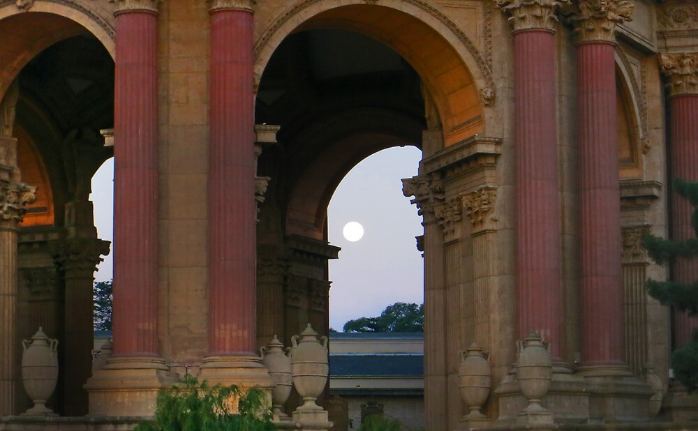 Full Moon and the Palace by David Denny