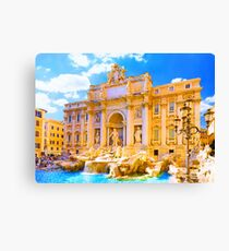Rome, Italy - Trevi Fountain Canvas Print