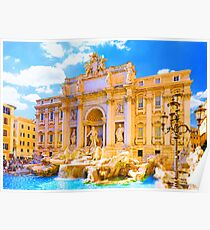 Rome, Italy - Trevi Fountain Poster