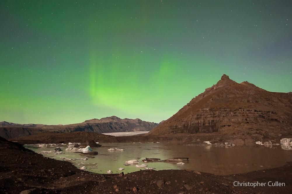 Aurora over Svinafellsjokul by Christopher Cullen