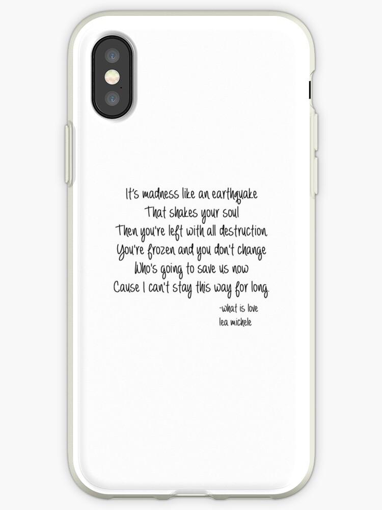 Lea Michele What Is Love Lyrics Iphone Hullen Cover Von Jboo88