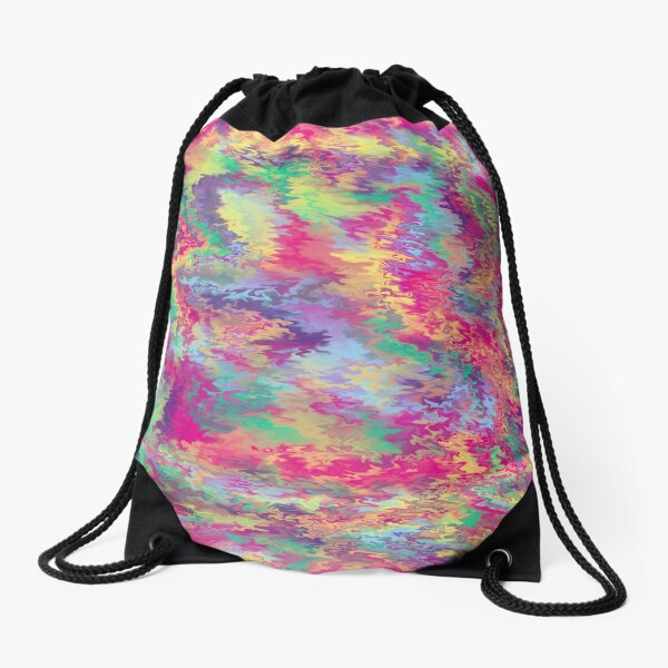 Rainbow Pop Tiedye Drawstring Bag