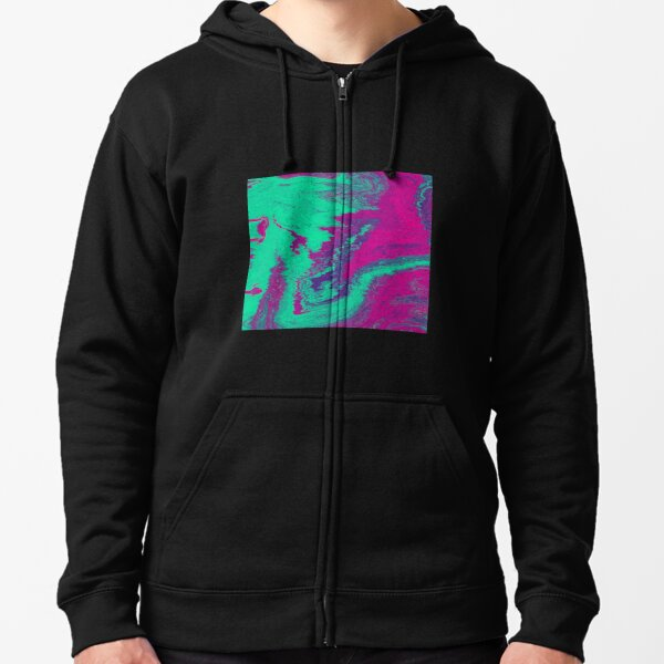 Colourful Psychedelic 70s Artwork Zipped Hoodie