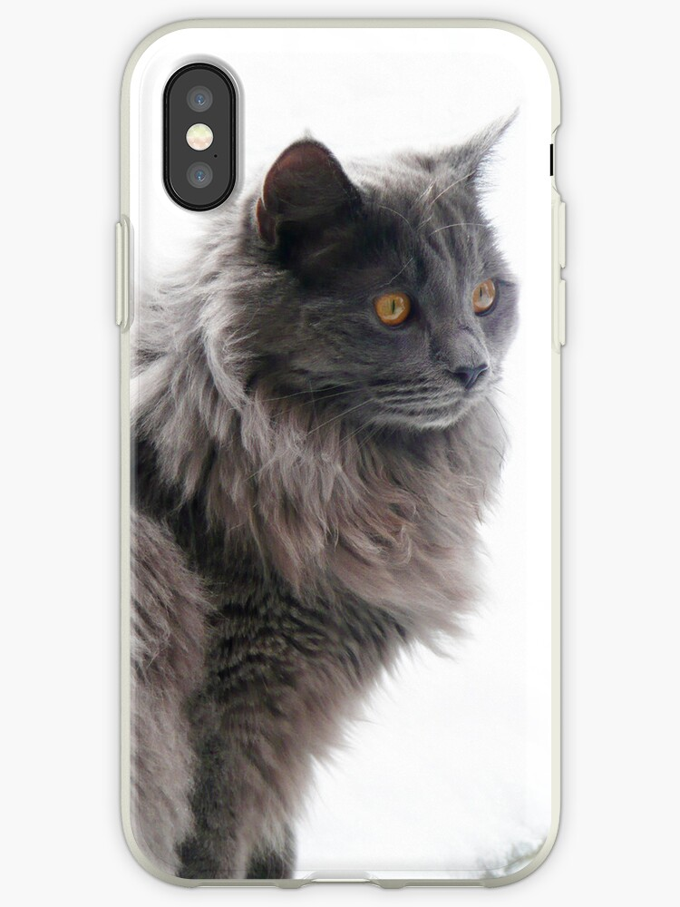 Snow Cat phone case by HandsonHart