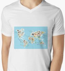 animal world map  T-Shirt