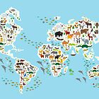 animal world map  by EkaterinaP