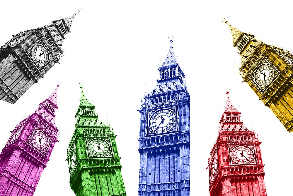 Big ben London colorfull by Feli Caravaca