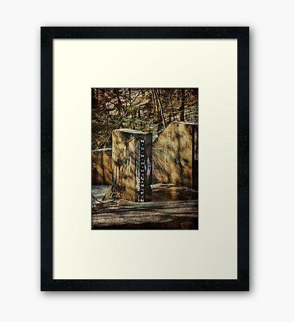 Stream Gauge  Framed Print
