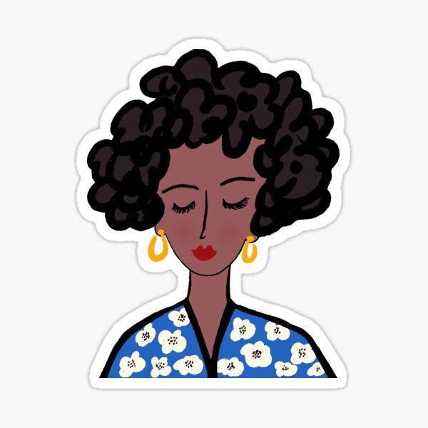 Beautiful Black Lady Sticker
