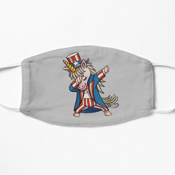 Dabbing Uncle Sam Unicorn Patriotic Gift Flat Mask