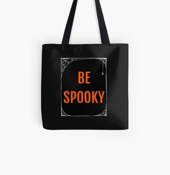 Be Spooky All Over Print Tote Bag