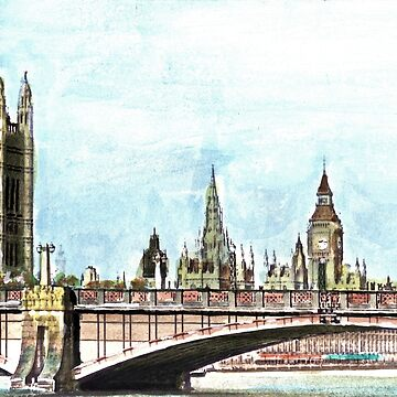 Lambeth Bridge and The Palace of Westminster. by mkirkwood