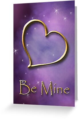 Be Mine Gold Heart by jkartlife