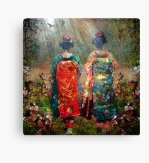 Geisha Walk Canvas Print