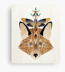 fox and butterfly Canvas Print
