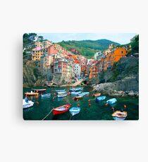 Lienzo Italia. Puerto deportivo de Cinque Terre