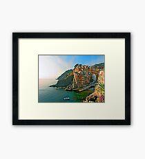 Italy. Cinque Terre - canals Framed Print
