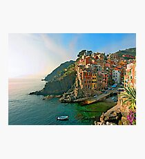 Italy. Cinque Terre - canals Photographic Print