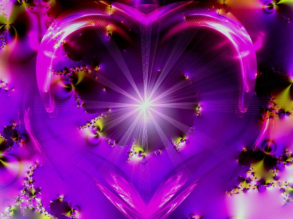 Purple Heart of Love by Brian Exton