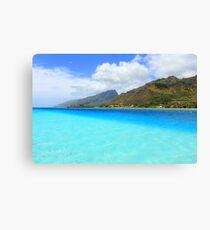 Blue Waterscape Canvas Print