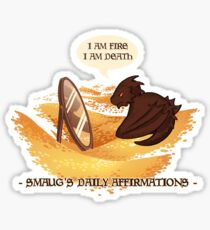 Smaug's Daily Affirmations Sticker