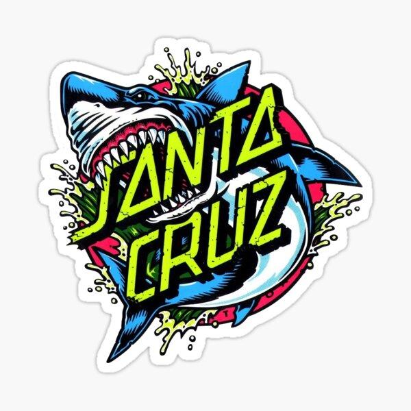 Santa cruz shark sticker Sticker