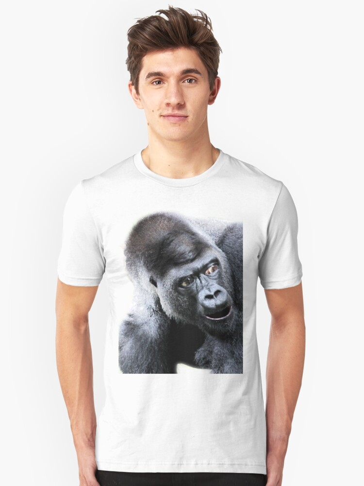 Say What Surprised Gorilla Unisex T-Shirt Front