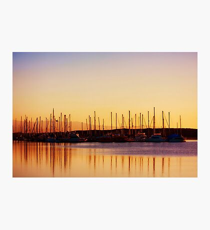 Sunset in Moss Landing Harbor Photographic Print