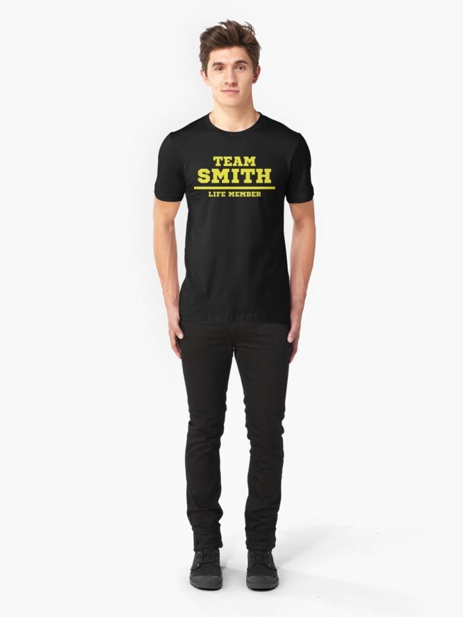 Alternate view of Team Smith - Life Member Slim Fit T-Shirt