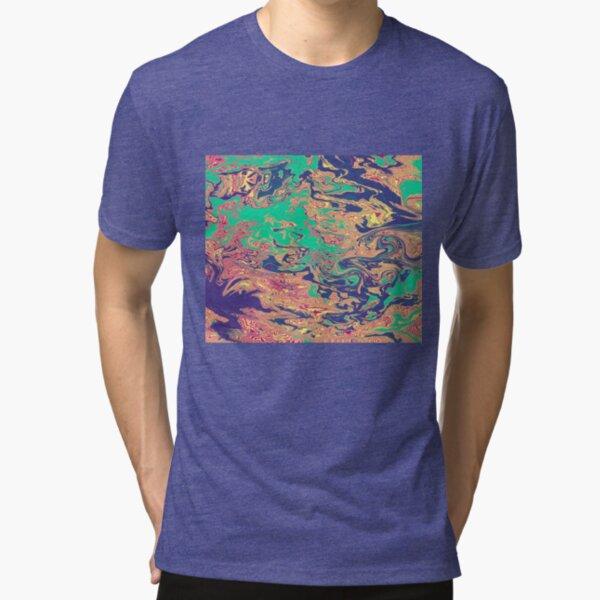 Trippy Flow Art Painting  Tri-blend T-Shirt