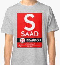 Retro CTA sign Saad Classic T-Shirt