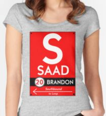Retro CTA sign Saad Women's Fitted Scoop T-Shirt