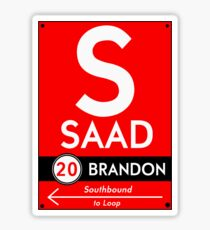 Retro CTA sign Saad Sticker