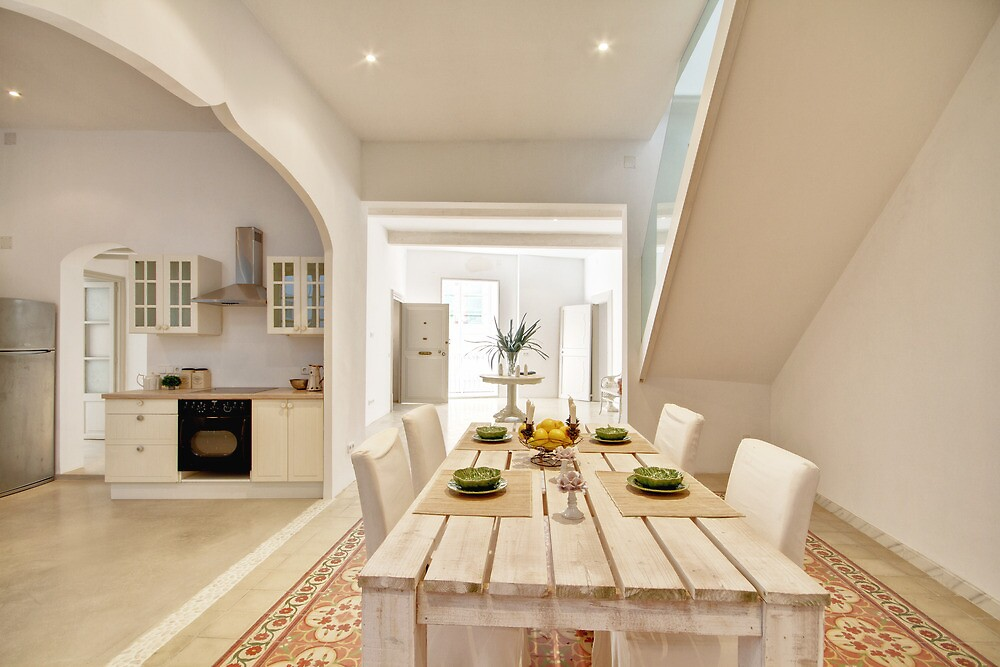 Dining Room to Hall with a Kitchen to one Side  by Philip  Rogan