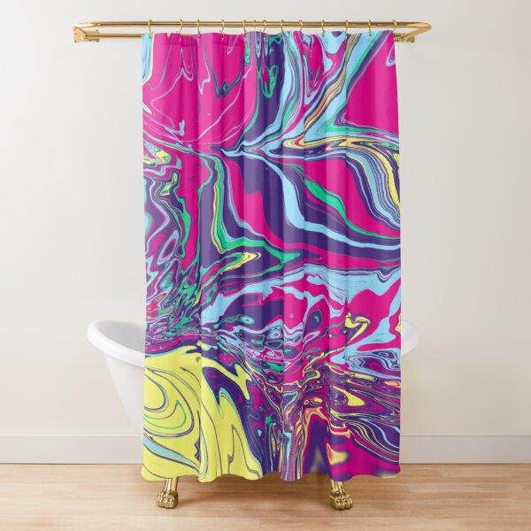 The sound of the 80s Shower Curtain