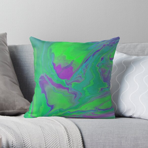 Melted Slime RZ Throw Pillow
