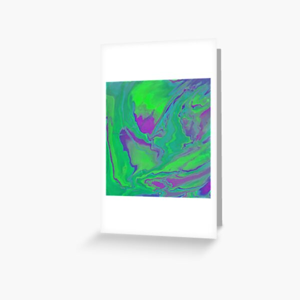 Melted Slime RZ Greeting Card