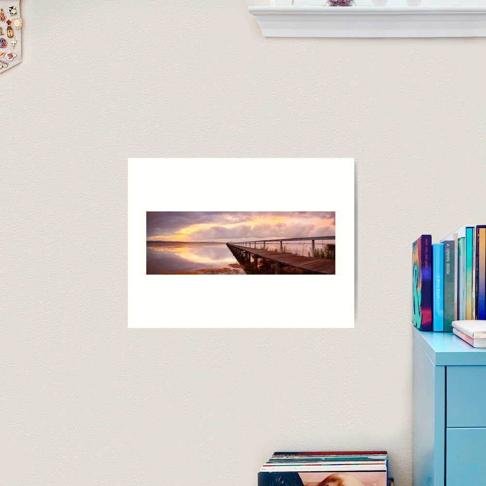 Long Jetty Sunset, New South Wales, Australia Art Print