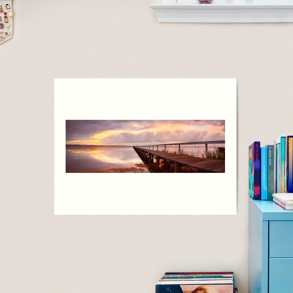 Long Jetty Sunset, New South Wales, Australia Art Print