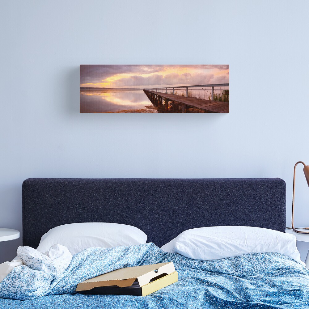 Long Jetty Sunset, New South Wales, Australia Canvas Print