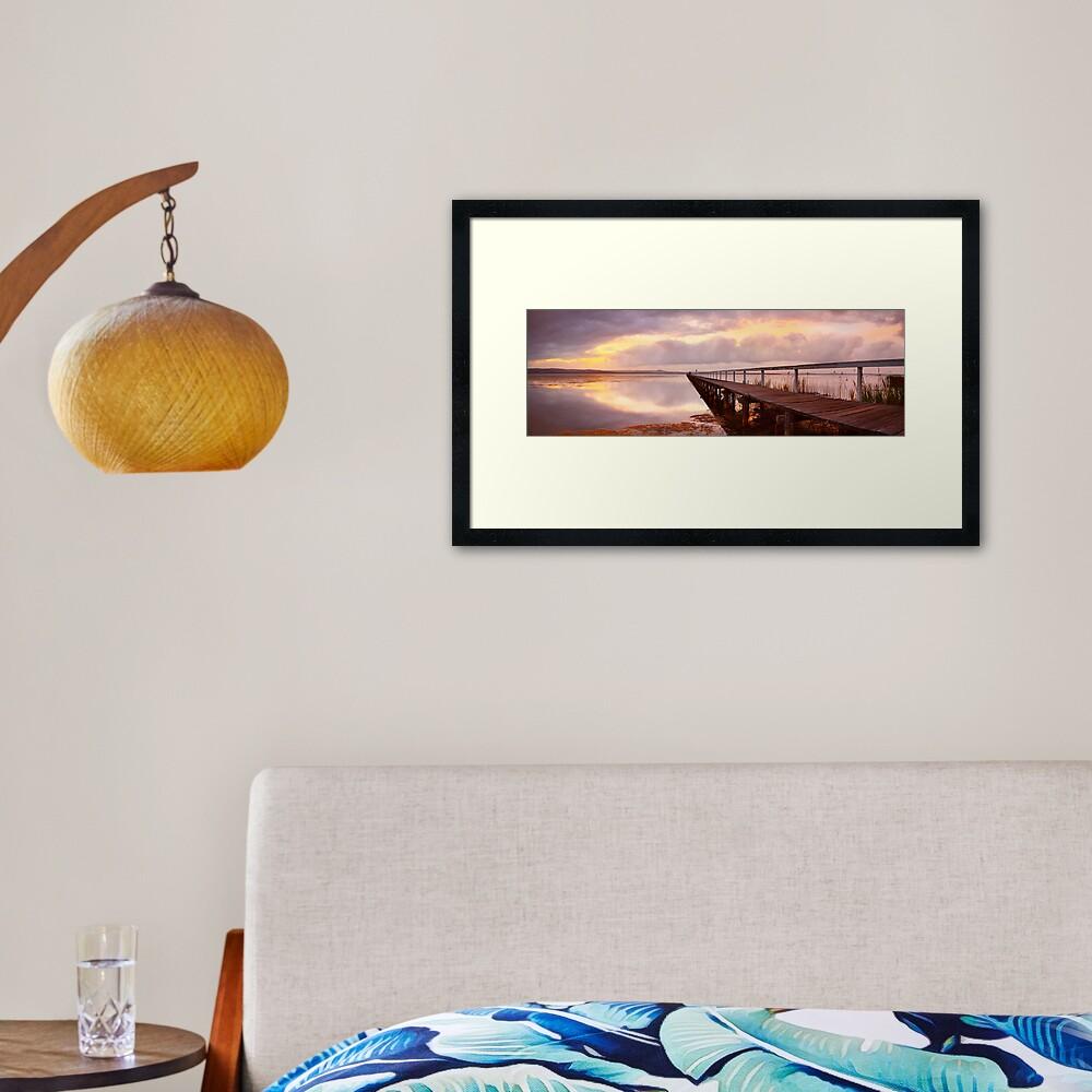 Long Jetty Sunset, New South Wales, Australia Framed Art Print