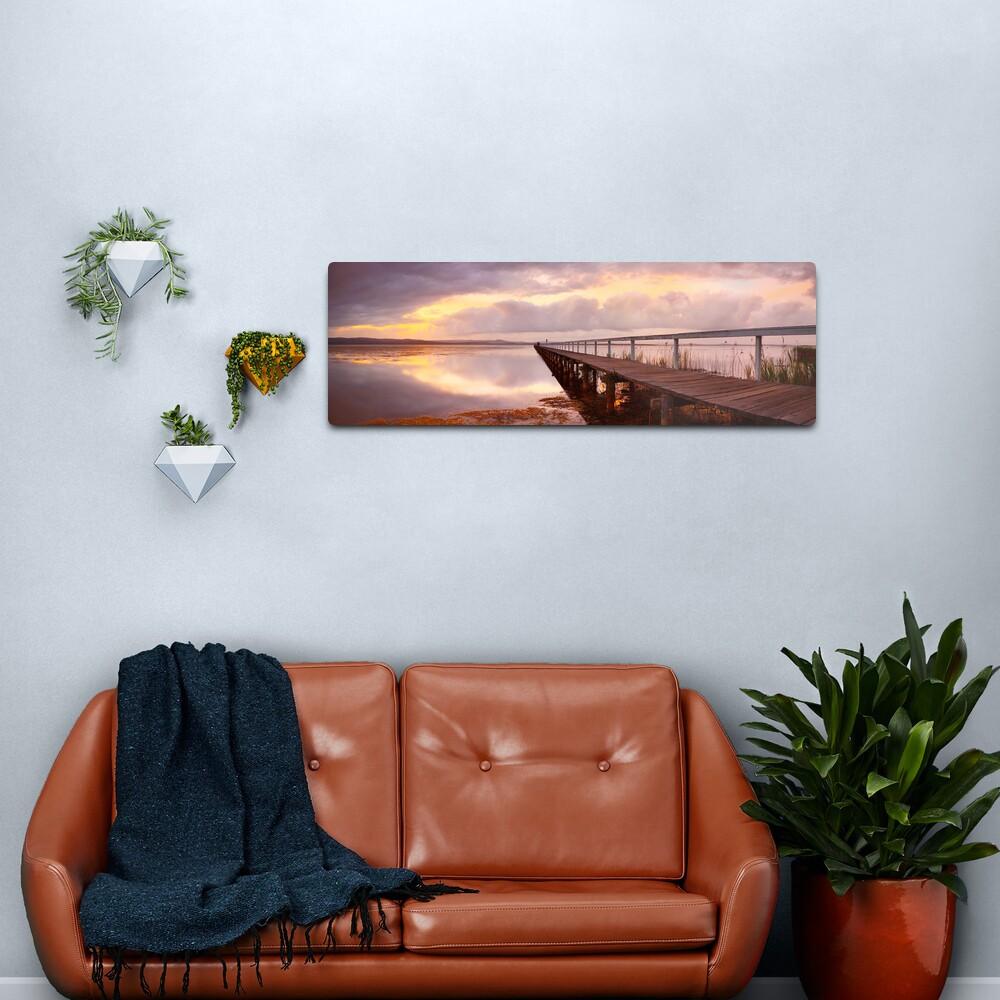 Long Jetty Sunset, New South Wales, Australia Metal Print